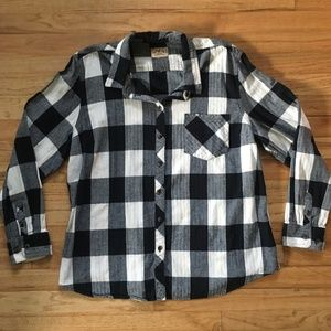 Blue Mountain Long Sleeve Thick Flannel Shirt